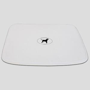 Labrador Oval Text Bathmat