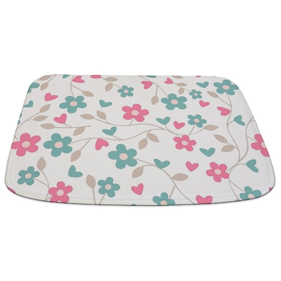 Simple Elegant Bathroom Designs: Simple Elegant Floral Pattern Bathmat By Ofbeautyandwonder