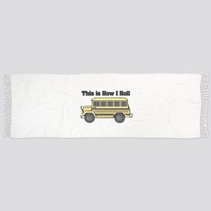 short yellow bus Scarf