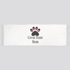 Great Dane Mom Paw Print Tassel Scarf