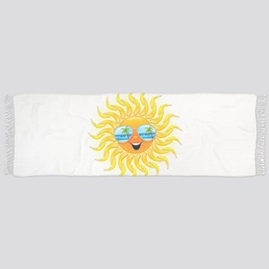 Summer Sun Cartoon with Sunglasses Scarf