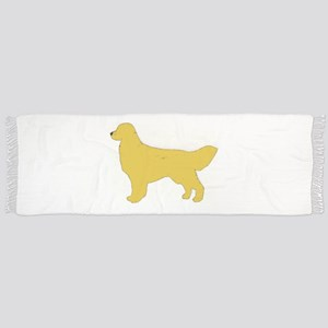 golden retriever color silhouette Tassel Scarf