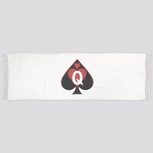 Queen of spades loves BBC-red2 Scarf