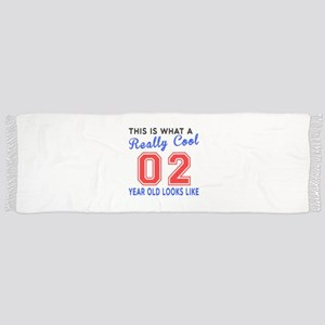 Really Cool 02 Birthday Designs Scarf