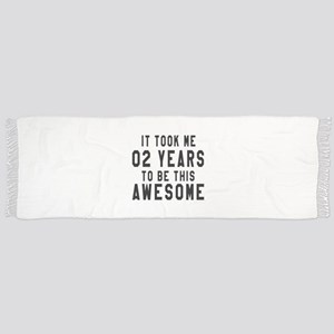 02 Years Birthday Designs Scarf