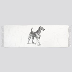 airedale terrier drawing Tassel Scarf