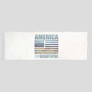 America the Beautiful Tassel Scarf