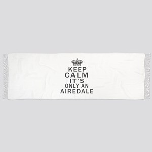 Airedale Keep Calm Designs Scarf