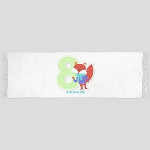 8th Birthday Personalized Name Scarf