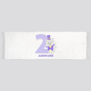 2nd Birthday Personalized Name Scarf