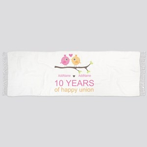 10th Anniversary Personalized Scarf