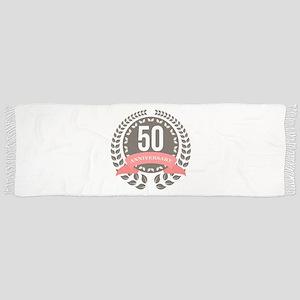 50 Years Anniversary Laurel Badge Scarf