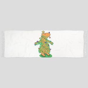 Christmas Tree Capybara Tassel Scarf