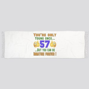 You're only young once..57 Scarf