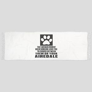 Airedale Awkward Dog Designs Scarf