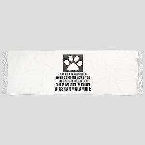 Alaskan Malamute Awkward Dog Designs Scarf