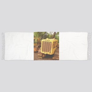 vintage yellow tractor Scarf
