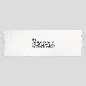 My Airedale Dog Designs Tassel Scarf