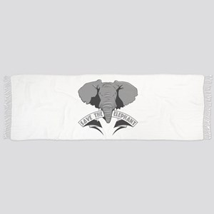 Save The Elephant Scarf
