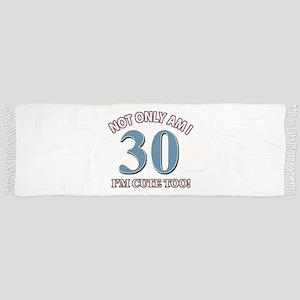 30 birthday design Scarf