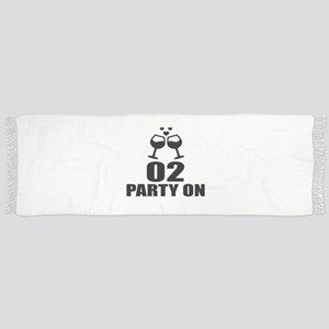 02 Party On Birthday Designs Tassel Scarf