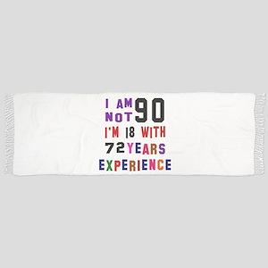 90 Birthday Designs Scarf