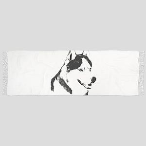 Siberian Husky Malamute Sled Dog Tassel Scarf