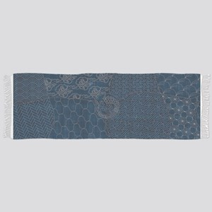 Sashiko-style Embroidery Scarf