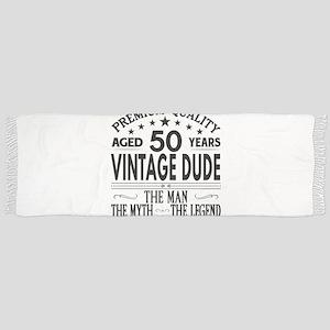 VINTAGE DUDE AGED 50 YEARS Tassel Scarf
