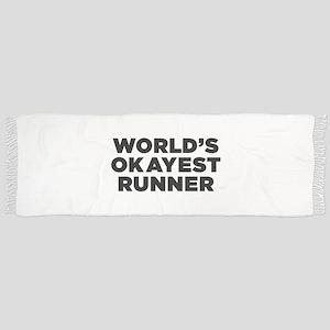 Worlds Okayest Runner - Black Print Scarf