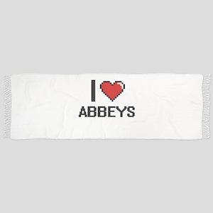 I Love Abbeys Digitial Design Scarf