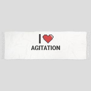 I Love Agitation Digitial Design Scarf