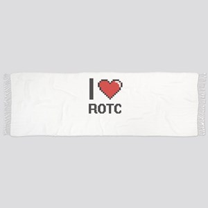 I Love Rotc Digital Design Scarf