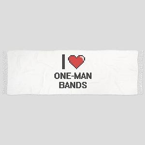 I love One-Man Bands digital design Scarf