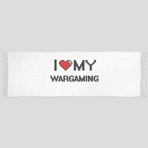 I Love My Wargaming Digital Retro Design Scarf