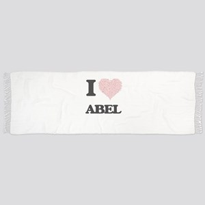 I Love Abel (Heart Made from Love words) Scarf
