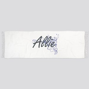 Allie Artistic Name Design with Flowers Scarf