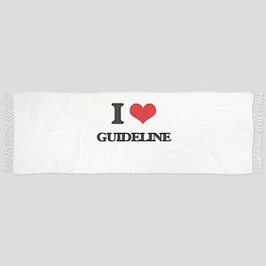 I Love Guideline Scarf