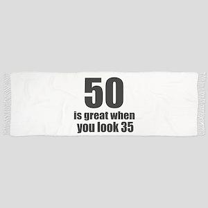 50 Is Great Birthday Designs Tassel Scarf