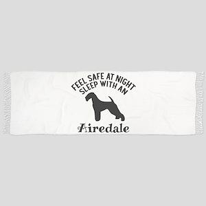 Sleep With Airedale Dog Designs Tassel Scarf