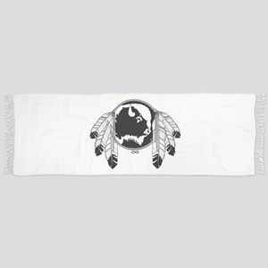 Metis Spirit Buffalo Native Art Tassel Scarf