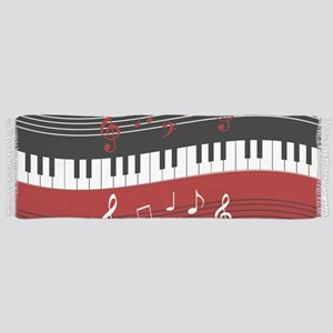 Stylish Piano keys and musical notes Tassel Scarf