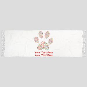 Dog Paw Print Customize Tassel Scarf