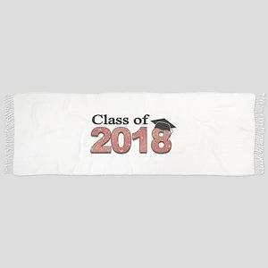Class of 2018 Glitter Tassel Scarf