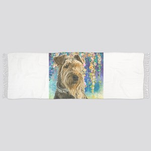 Airedale Painting Scarf