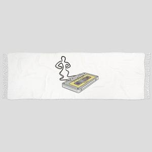 Compact Cassette Tape Man Dancing Mono Line Tassel