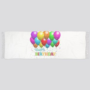 Trendy Happy Birthday Balloons Scarf