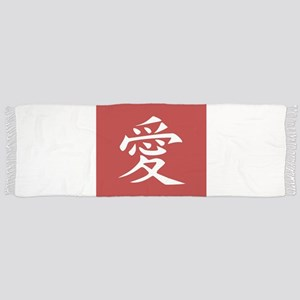 Love - Japanese Kanji Script Scarf