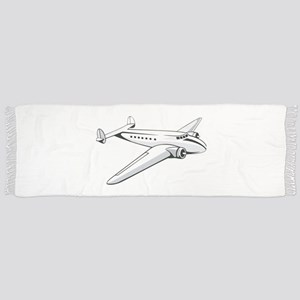 Vintage Twin Engine Propeller Airplan Tassel Scarf