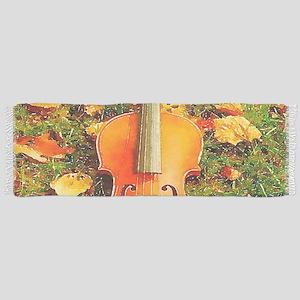 romantic fall leaves violin Scarf